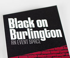 Black on Burlington identity design