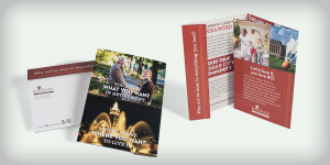 Direct mail for Kingswood Retirement Community via Zillner Marketing