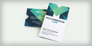 Business cards for McCambridge Law