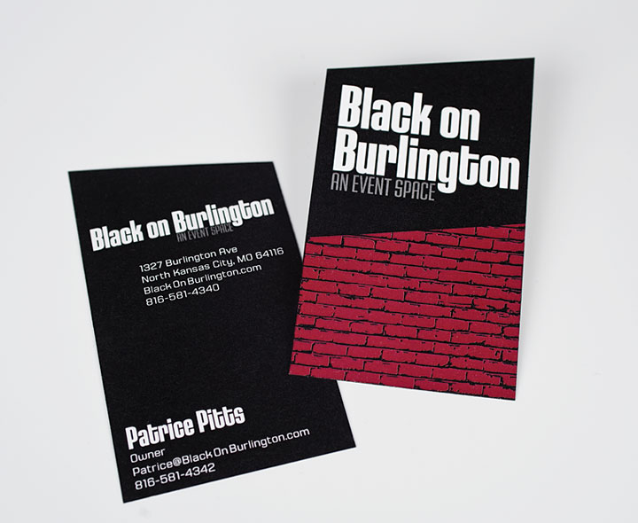 Logo design for black on burlington trademark and business card trademark colourmoves
